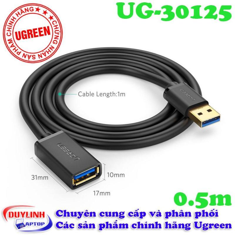 Bảng giá Dây cáp nối dài USB 3.0 dài 0.5M mạ vàng cao cấp chính hãng Ugreen 30125 Phong Vũ