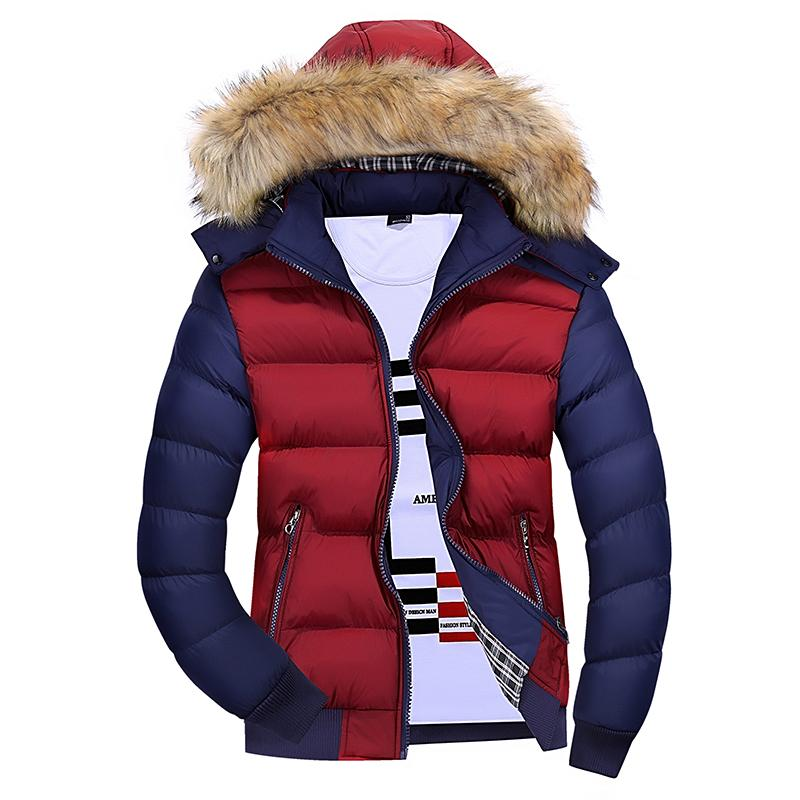 fcec071c7 Winter New Style Hooded Thick Warm Cotton Coat Teenager Korean Style Simple Slim  Fit nan mian
