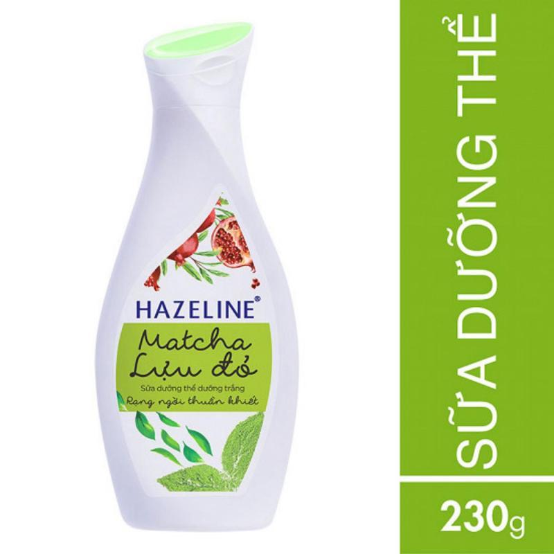 Sữa dưỡng thể dưỡng trắng Hazeline matcha lựu đỏ 230ml