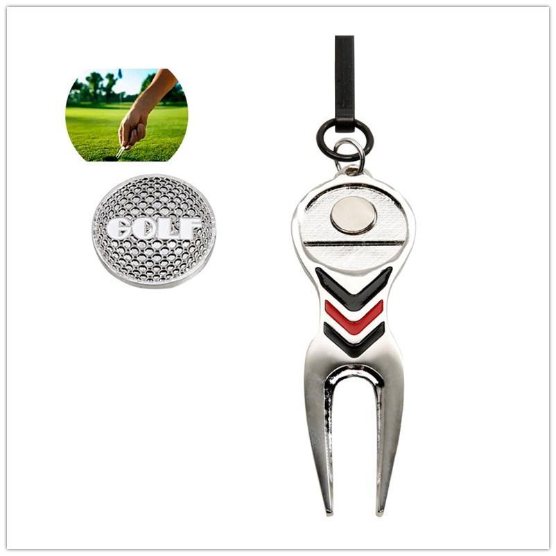 Dsstyles Alat Perbaikan Golf Bola Magnetik Paduan Marker Dengan Hook Peralatan Standar Golf Ridge Sport Accesories By Dsstyles.