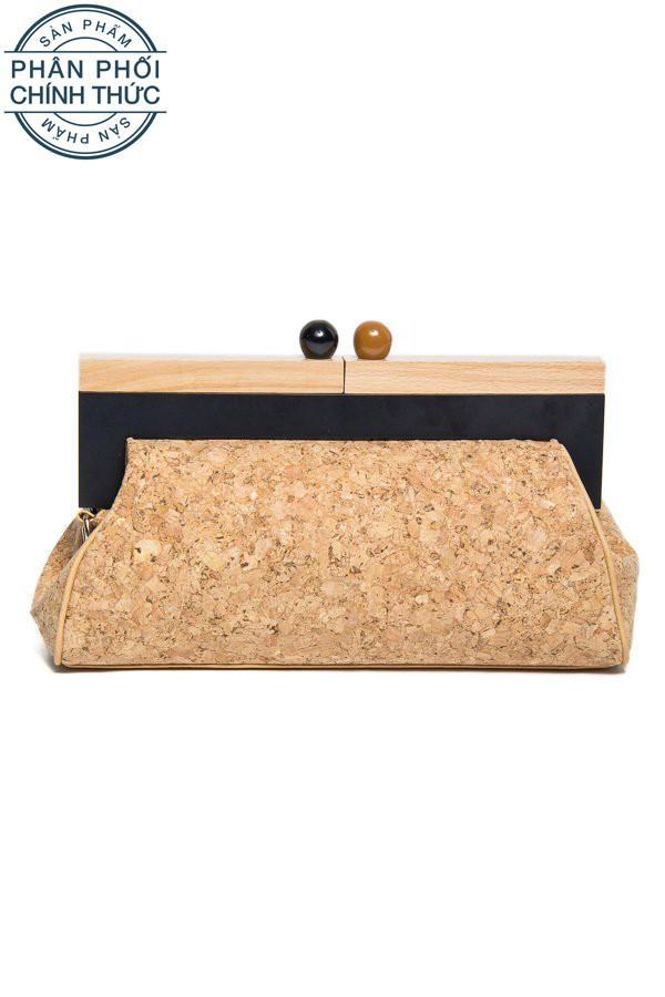 Cửa Hàng Lzd Wooden Clasp Clutch Tan Rẻ Nhất