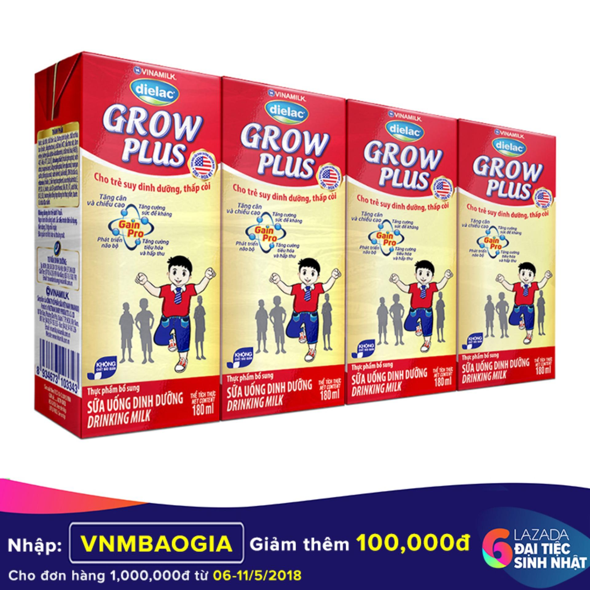 Mua Thung 48 Hộp Sữa Bột Pha Sẵn Vinamilk Dielac Grow Plus 180Ml Trực Tuyến Hồ Chí Minh