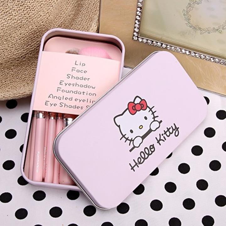 [ANNY] Bộ Cọ Trang Điểm Hello Kitty 7 Cây 5
