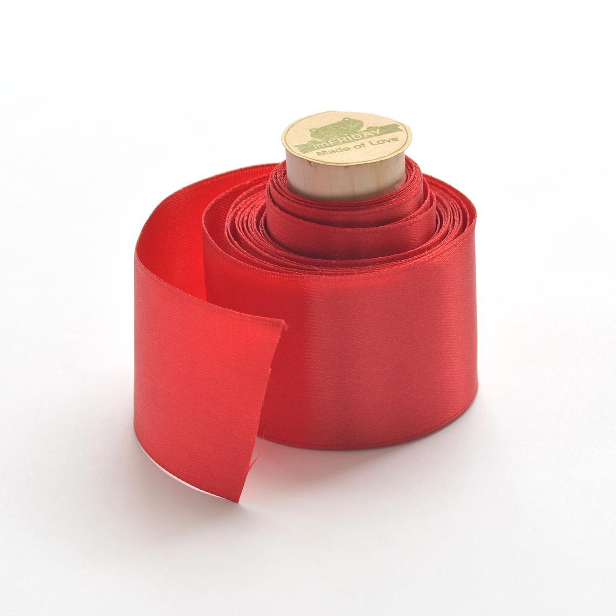 Hình ảnh 3m ruy băng lụa đỏ 4cm RB39