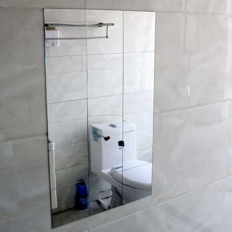 Gương dán tường 9 miếng vuông