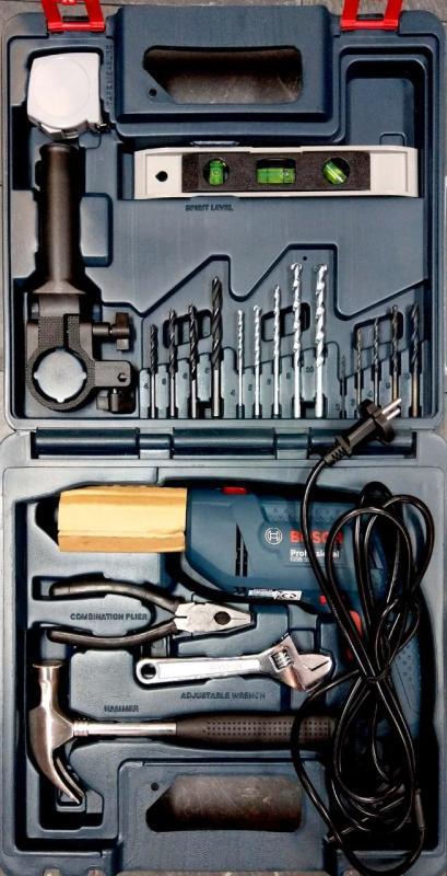Bộ máy khoan động lực GSB 550 set (Bộ phụ kiện 19 chi tiết)