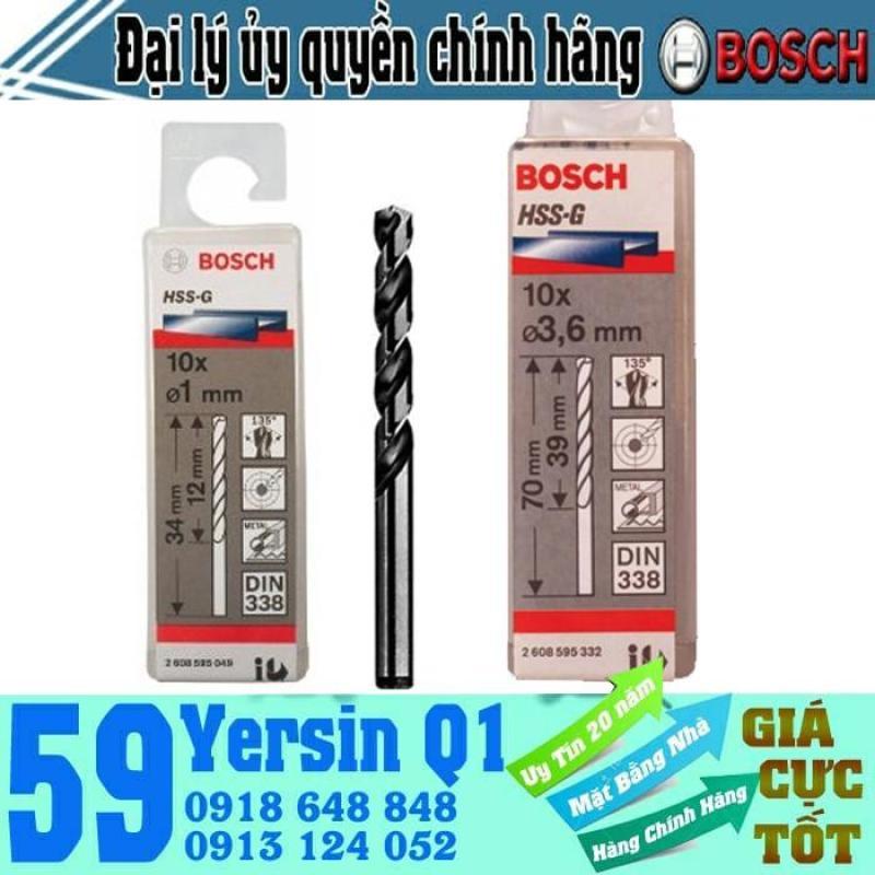 BỘ MŨI KHOAN SẮT 10 MŨI HSS-G BOCSH 2mm - 2608595051
