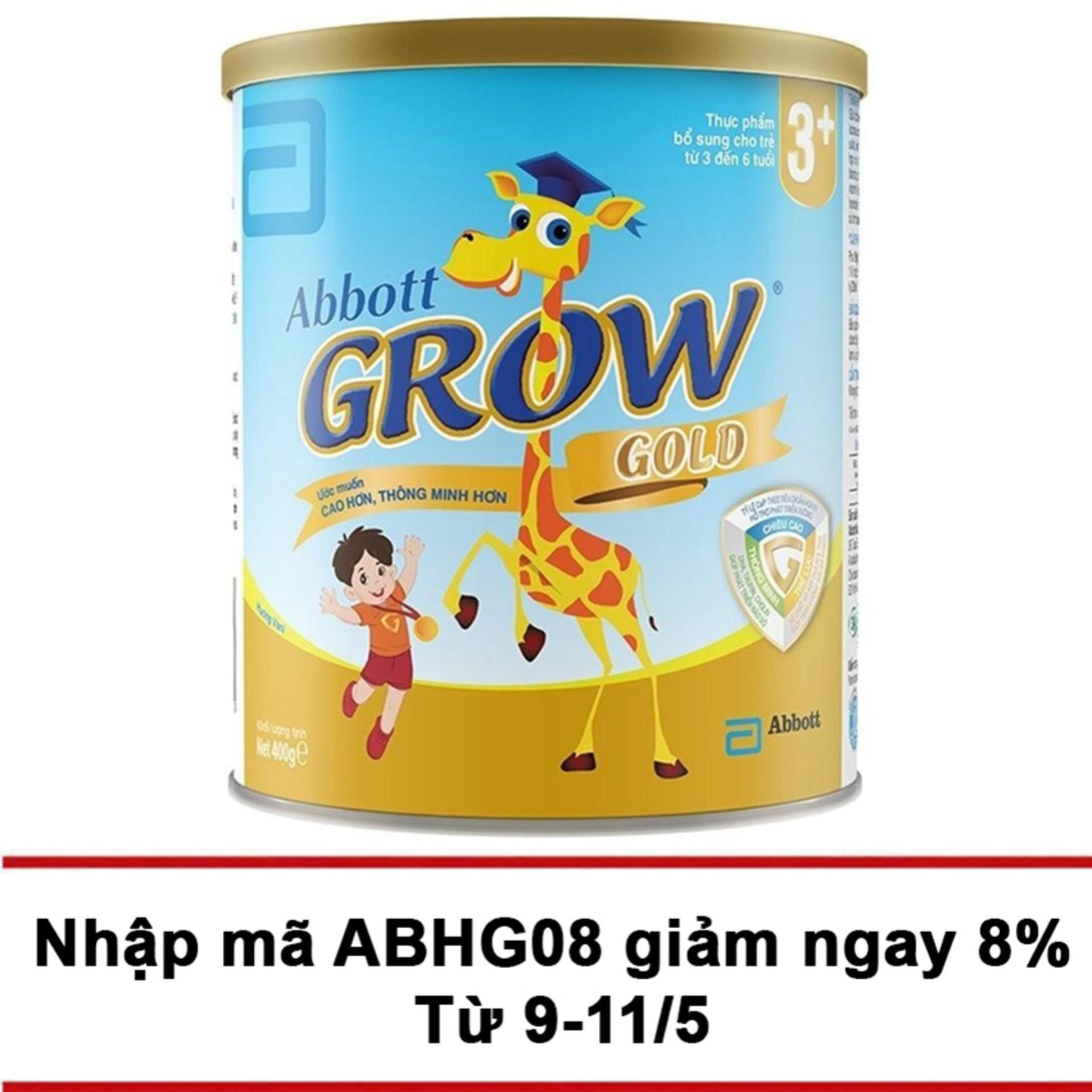 Cửa Hàng Sữa Bột Abbott Grow Gold 3 Hương Vani 400G Rẻ Nhất