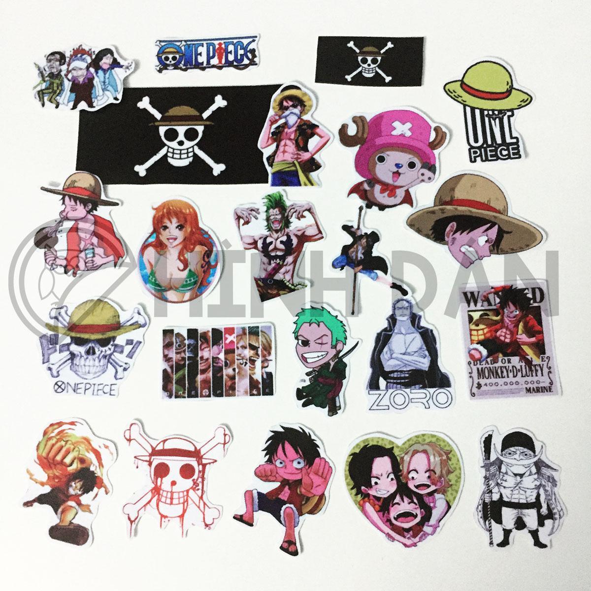 Hình ảnh Bộ Sticker Chủ Đề One Piece, Luffy (2018) Hình Dán Decal Chất Lượng Cao Chống Nước Trang Trí Va Li, Xe, Laptop, Nón Bảo Hiểm, Máy Tính, Tủ Quần Áo