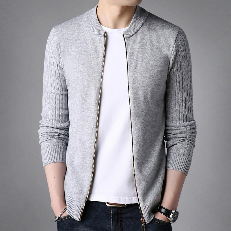 Men S Baseball Jacket Thin Coat Knitted Cardigan Minimalism By Taobao Collection.