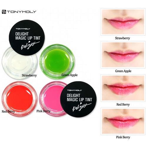 Son dưỡng môi Delight Magic Lip Tint Tonymoly Hàn Quốc 7g (No.1 Strawberry)