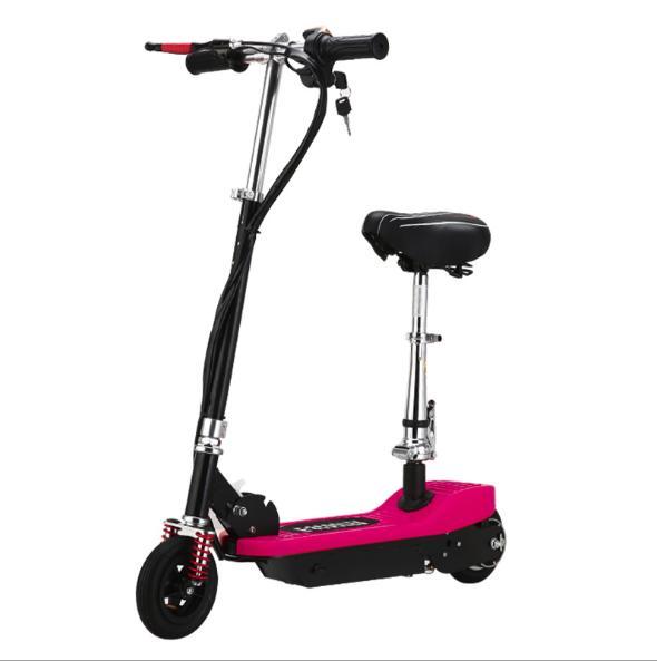 Xe scooter điện thể thao 120W, tốc độ tối đa 15km/h, tải trọng 75kg (Đỏ)