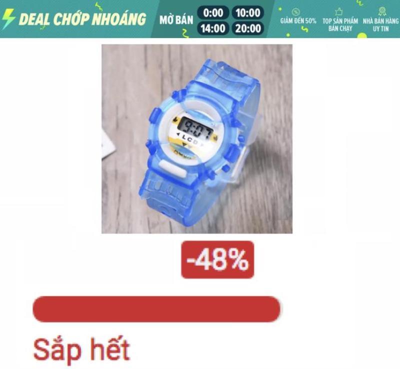 Đồng hồ Led cho bé dây Silicon shop thích trẻ nhỏ nên bán giá tốt  xem như 1 món quà gửi đến các bé (Xanh)
