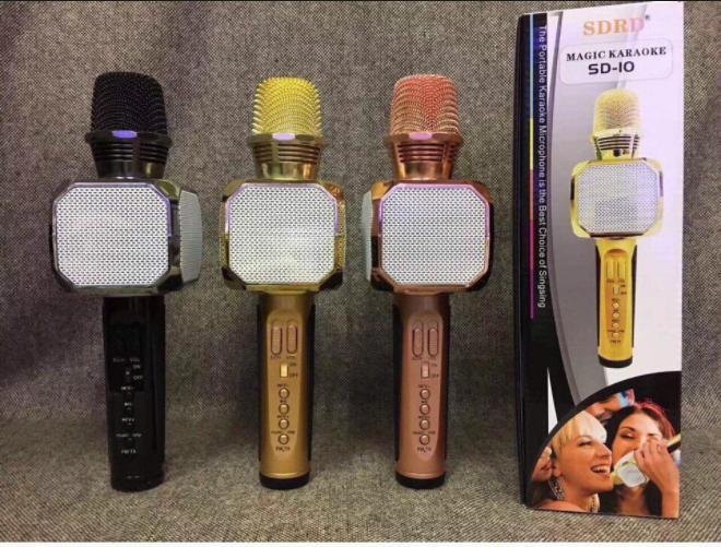 Cửa Hàng Micro Kem Loa Bluetooth Karaoke Sd 10 Model 2018 Loại Xịn Tặng Đen Led Disco Nhay Theo Nhạc Trong Hà Nội