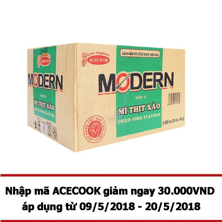 Ôn Tập Thung 24 Ly Mi Modern Vị Thịt Xao Modern