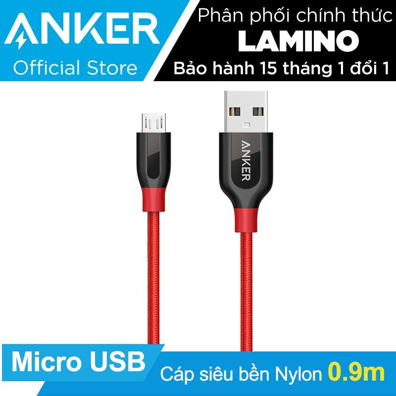 Giá Bán Cap Sieu Bền Nylon Anker Powerline Micro Usb Dai 9M Đỏ Co Bao Da Hang Phan Phối Chinh Thức