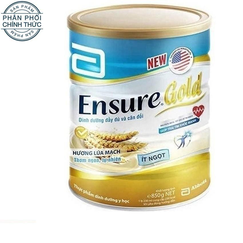 Hình ảnh Lon sữa bột Ensure Gold hương lúa mạch ít ngọt 850g