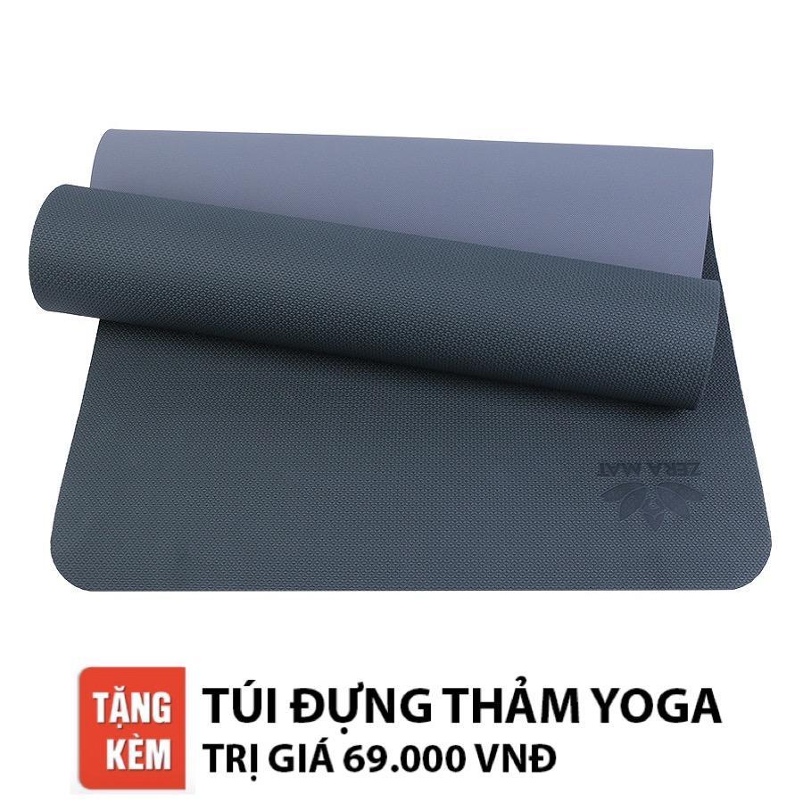 Bán Thảm Tập Yoga Zera Tpe 2 Lớp 6Mm Xanh Reu