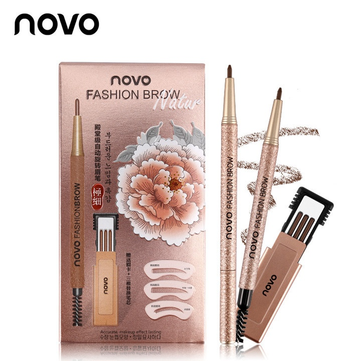 Bộ Chì Mày Định Hình 3 Kiểu Novo Fashion Brow 5