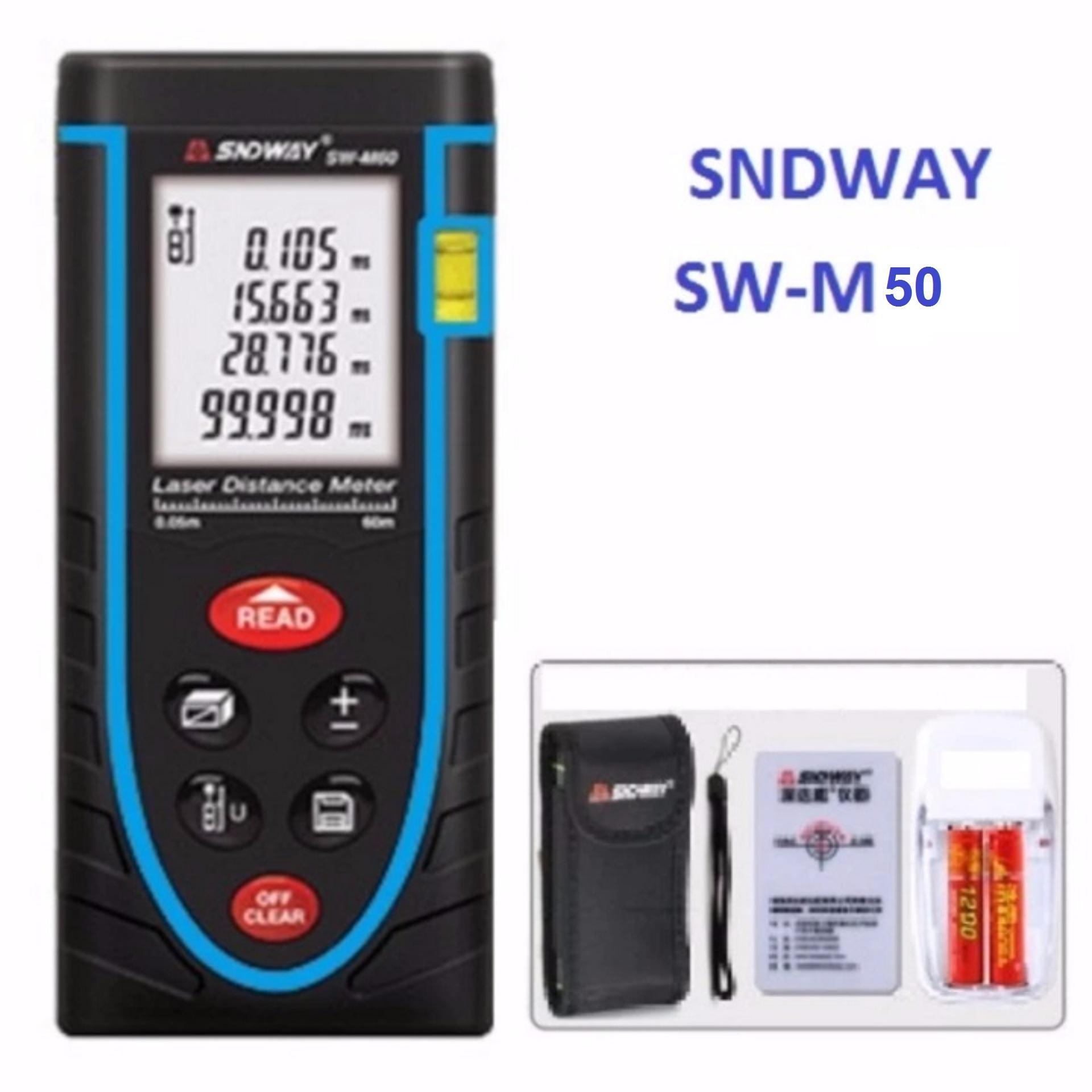 Hình ảnh Thước đo khoảng cách bằng tia laser SNDWAY SW-M50 phạm vi đo 50M