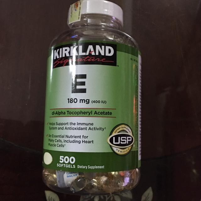 Hình ảnh Viên Uống Đẹp Da Kirkland Signature Vitamin E 400iu 500 Viên (date 2022)