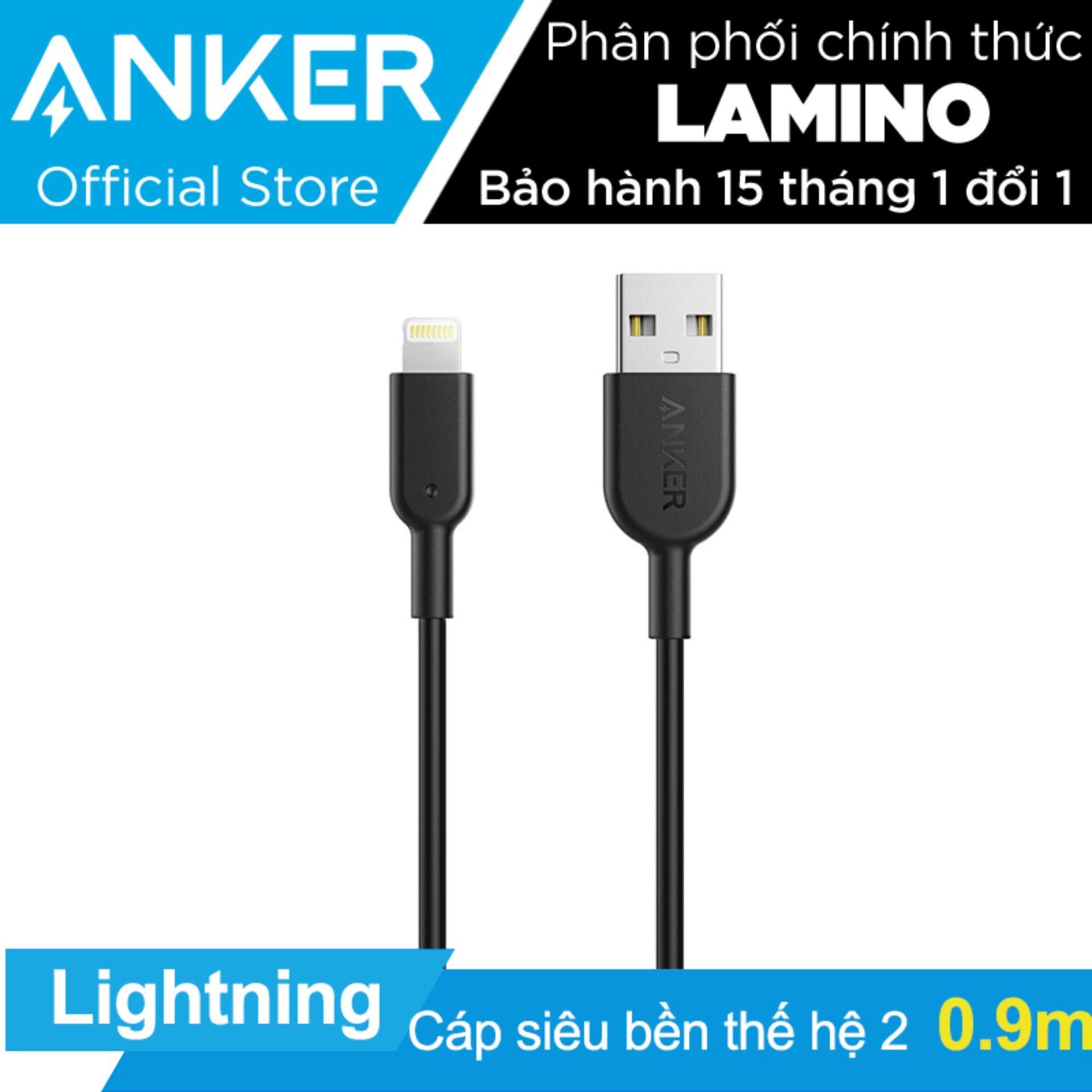 Bán Cap Sieu Bền Thế Hệ 2 Anker Powerline Ii Lightning Dai 9M Cho Iphone Ipad Hang Phan Phối Chinh Thức Có Thương Hiệu Nguyên