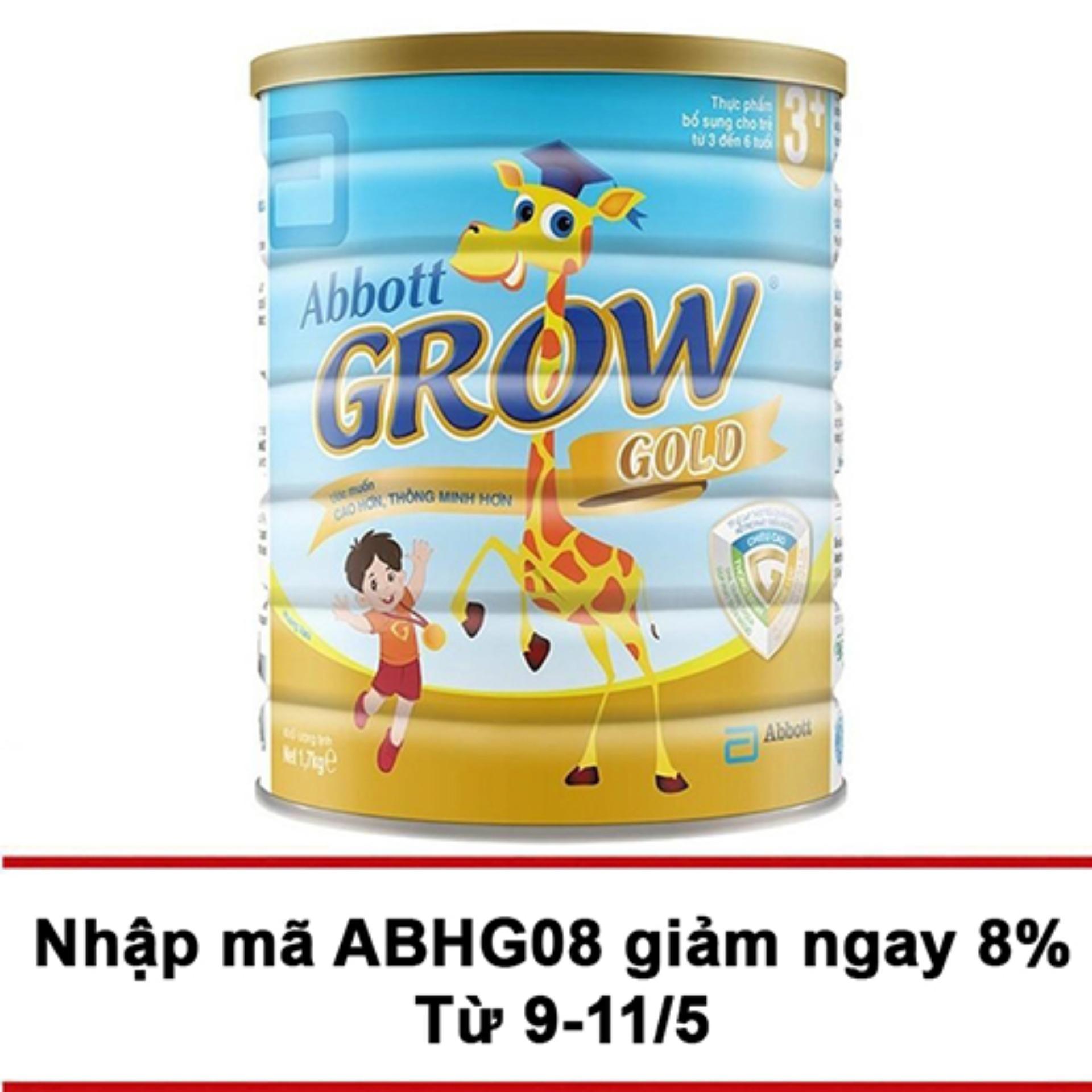 Ôn Tập Sữa Bột Abbott Grow Gold 3 Hương Vani 1 7Kg Mới Nhất