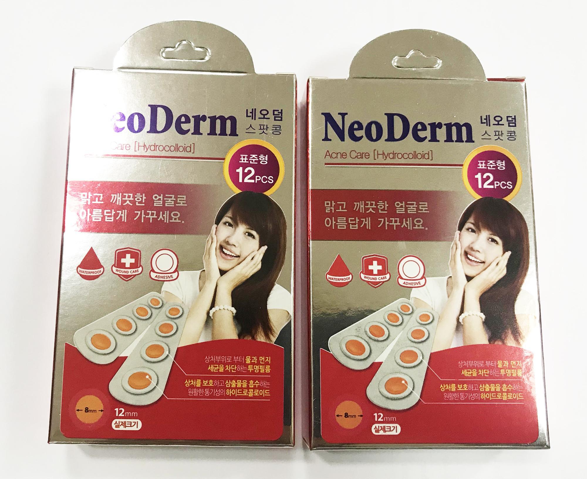 Bộ 2 hộp Miếng Dán Trị Mụn NEODERM-UT Spot 12 miếng nhập khẩu