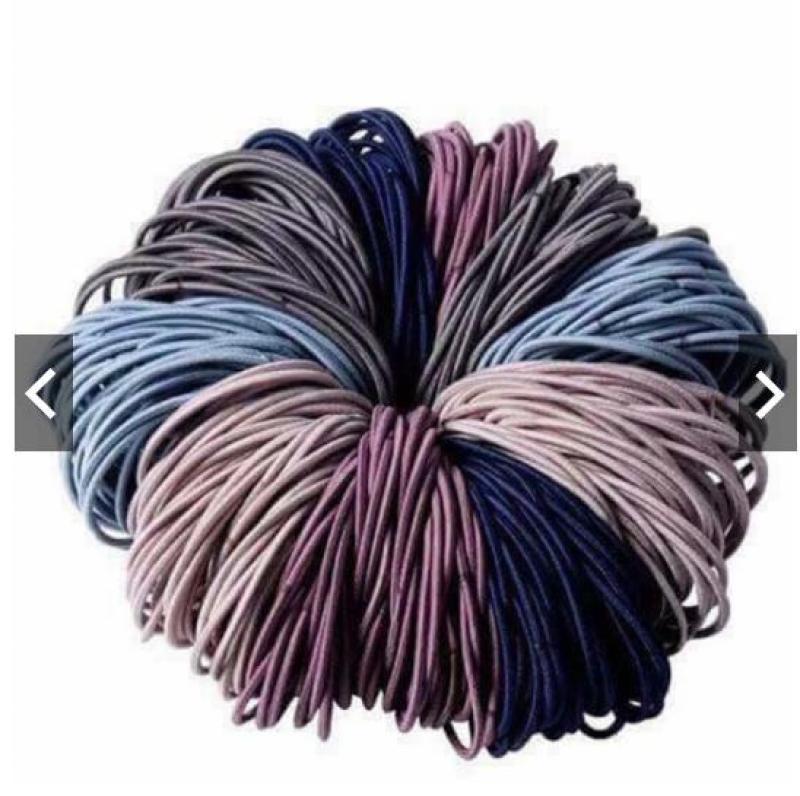 Sét 100 dây chun buộc tóc tiện lợi nhập khẩu