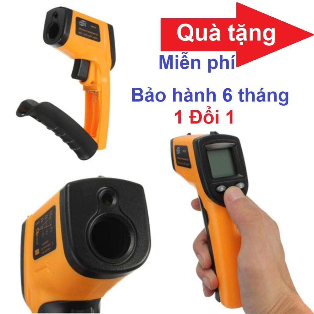 Nhiệt kế Hồng Ngoại đo nhiệt độ máy và cơ thể GM-320 và Quà Tặng kèm miễn phí