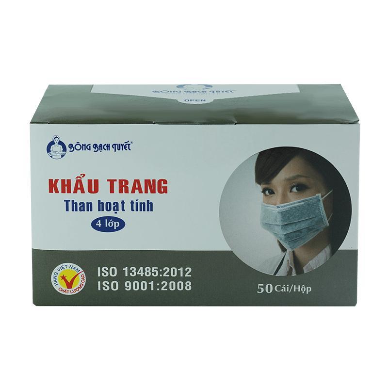 Khẩu trang y tế cao cấp than hoạt tính Bông Bạch Tuyết - gian hàng chính hãng.
