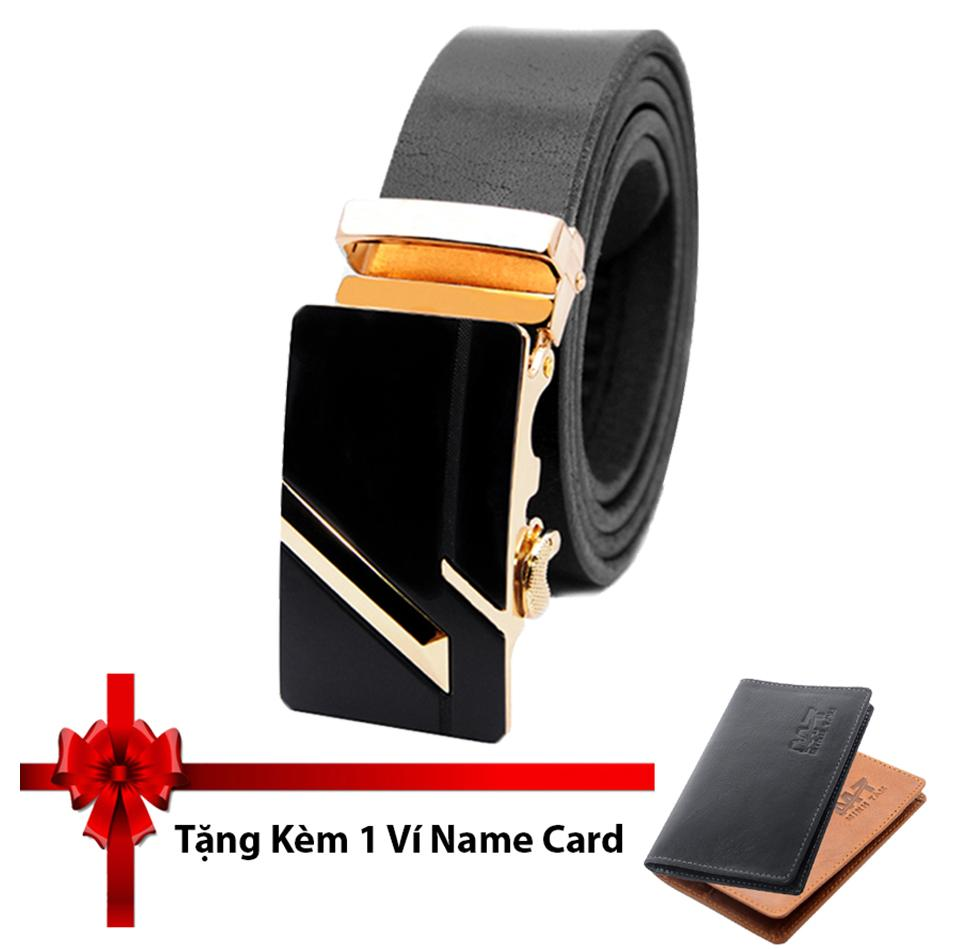 Thắt Lưng Nam Da Bo 100 Minh Tam Mt 2017 024Đv Đen Tặng Kem 1 Vi Name Card Da Thật Mới Nhất