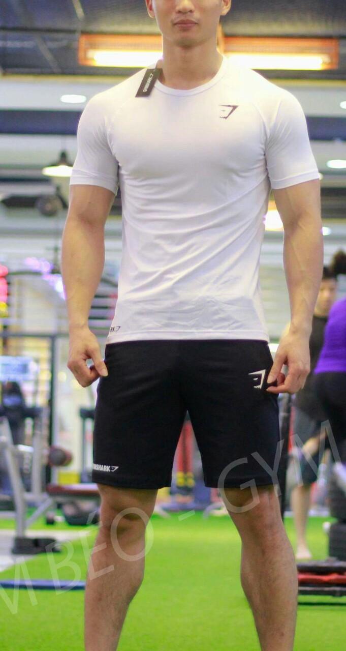 Áo thun cổ tròn chuyên tập Gym nhỏ phong cách 2018