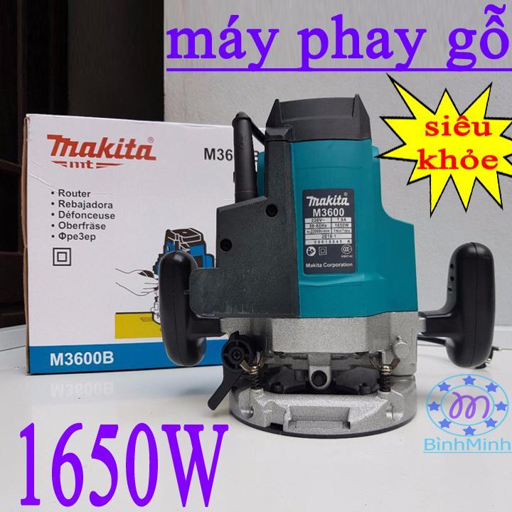 Hình ảnh máy soi mộng gỗ makita M3600B 1650W - máy soi mộng makita 1650W - máy phay gỗ