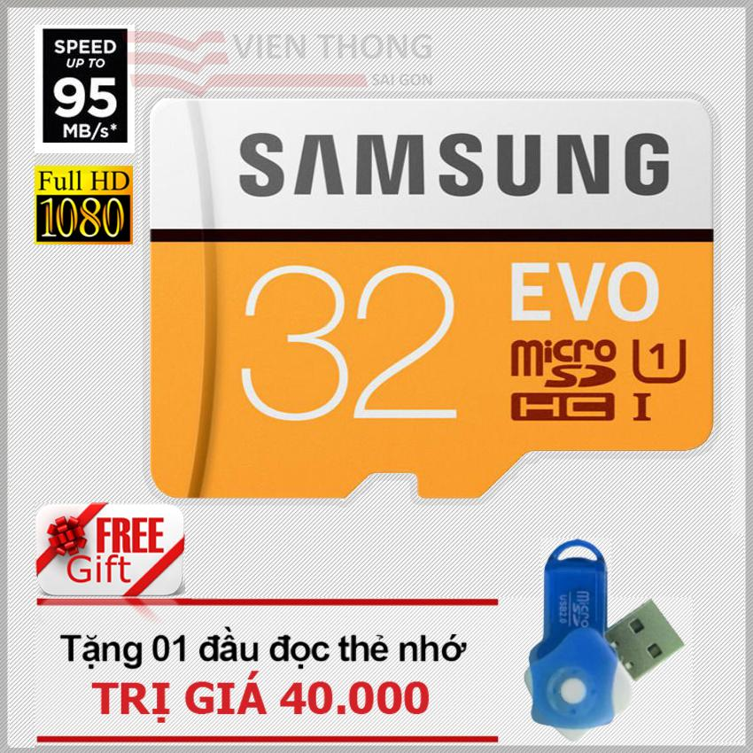 Thẻ Nhớ 32Gb Samsung Evo Microsdhc Up To 95Mb S Cam Tặng 01 Đầu Đọc Thẻ Micro Pt Samsung Chiết Khấu