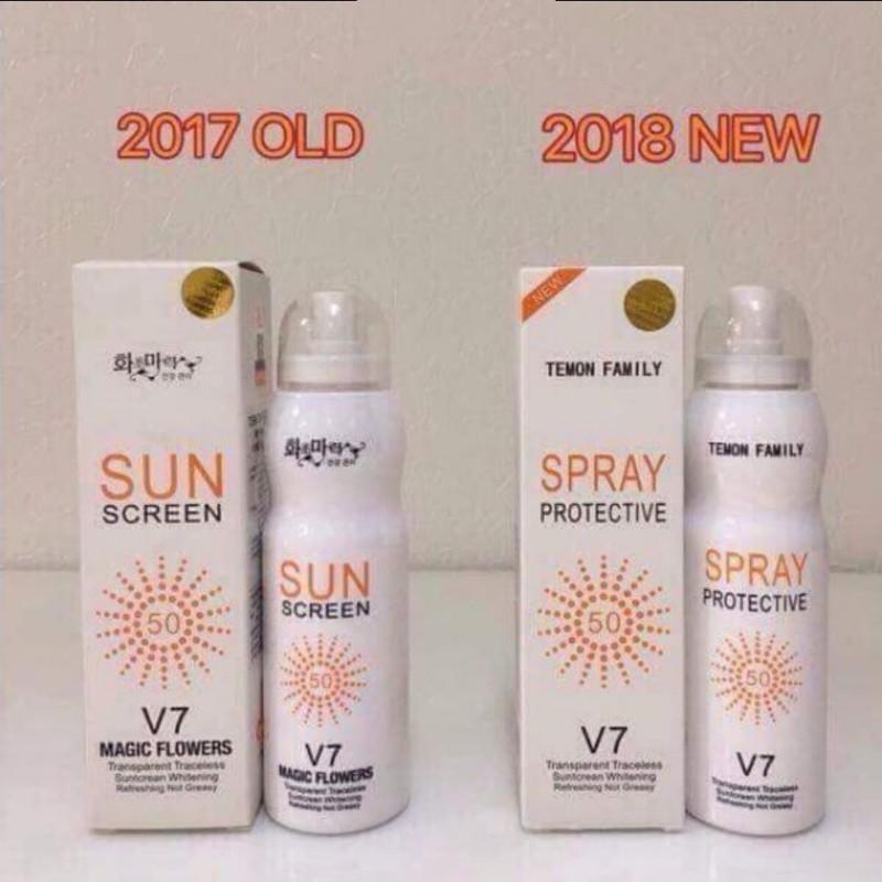 Xịt chống nắng Hàn Quốc spray V7 2