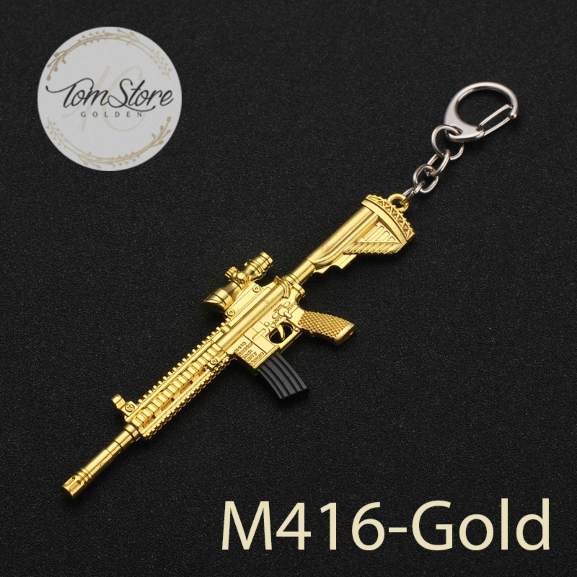 Hình ảnh Móc khóa mô hình PUBG - M416 Gold _ts412
