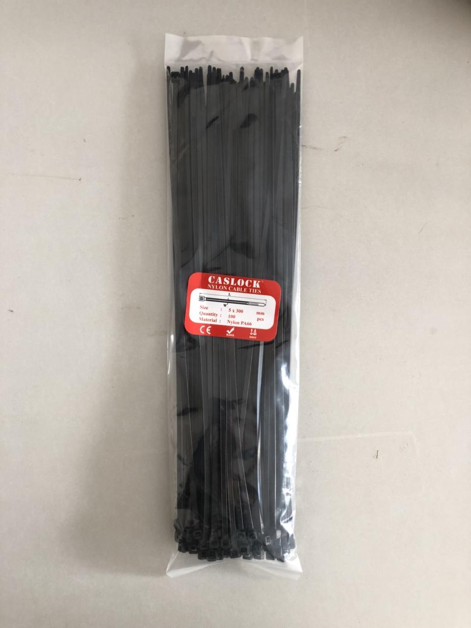 Hình ảnh Bộ 80 sợi Dây Rút Nhựa Màu Đen Khóa Siêu Chắc Size 5*300