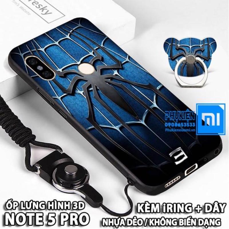 Giá (11 mẫu) Ốp lưng dùng cho Xiaomi Redmi Note 5 / Note 5 Pro Hình 3D NEW nhựa TPU dẻo - Kèm Dây + iRing