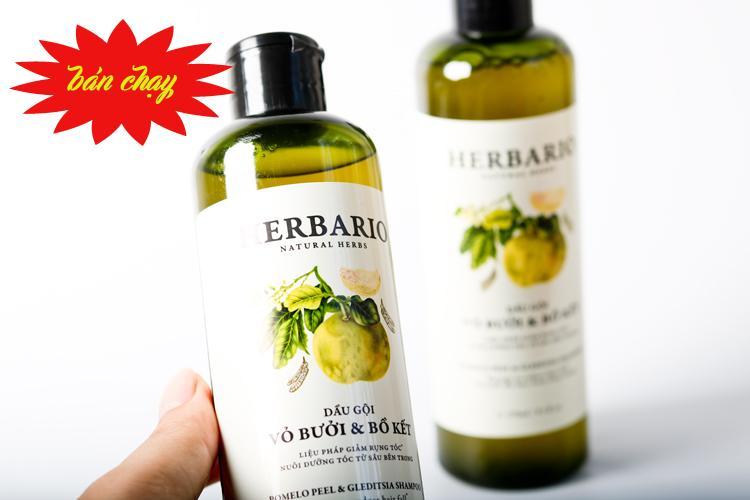 Dầu gội kích thích mọc tóc , chống rụng tóc HERBARIO . giúp tóc khỏe mạnh 270ml