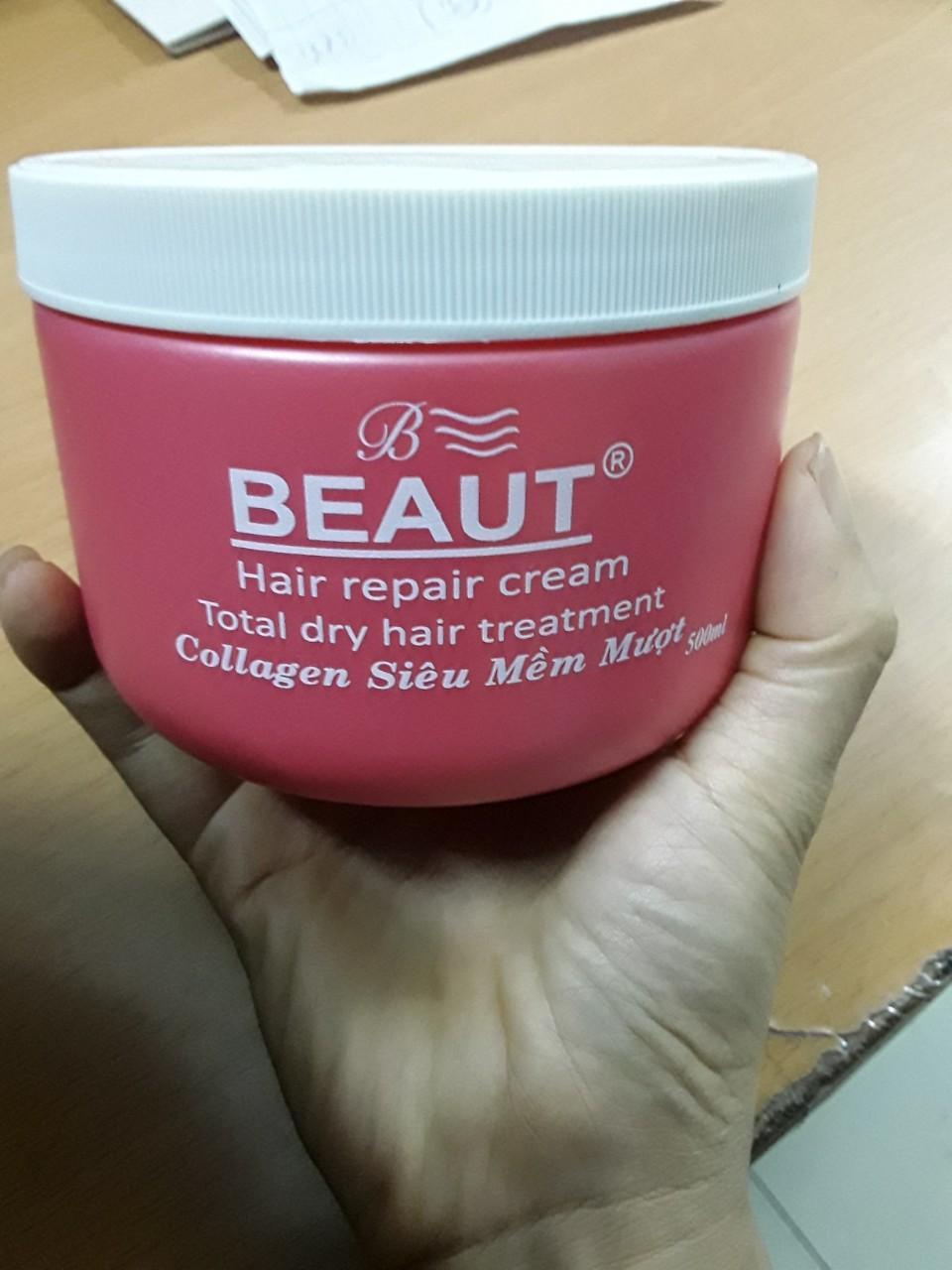 Kem hấp tóc siêu mền mượt Beaut - 500ml Hồng