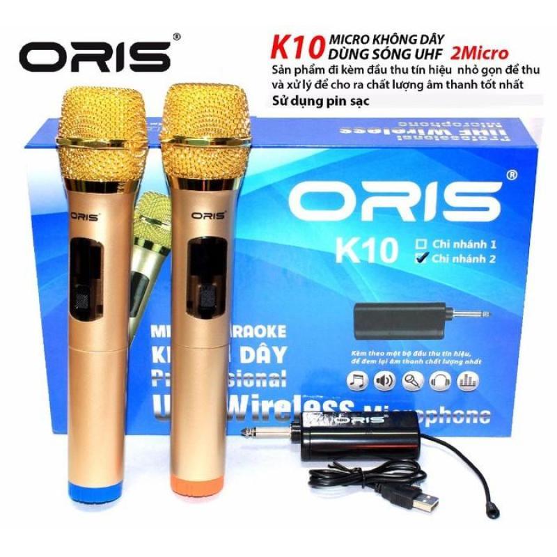 Bảng giá MICRO KO DÂY UHF ORIS K10-2 BỘ 2 MICRO Phong Vũ