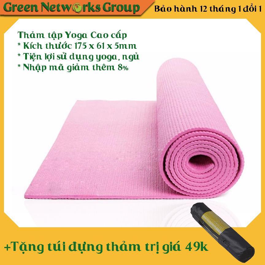 Hình ảnh Thảm Tập Yoga Loại Cao Cấp Có Túi Đựng (Hồng)
