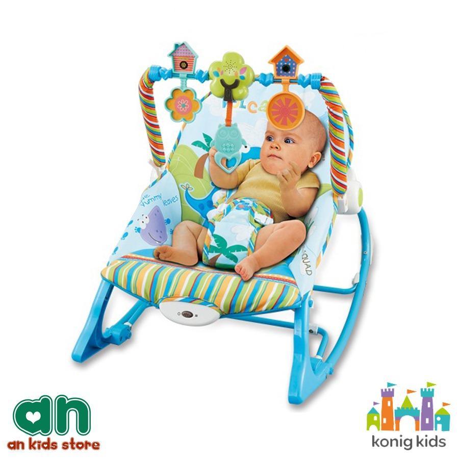 Ghế rung có nhạc và thanh đồ chơi vận động Konig Kids KK63562