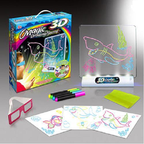 Hình ảnh Bộ đồ chơi vẻ hình 3D trí tuệ dành cho bé Magic Drawing Board