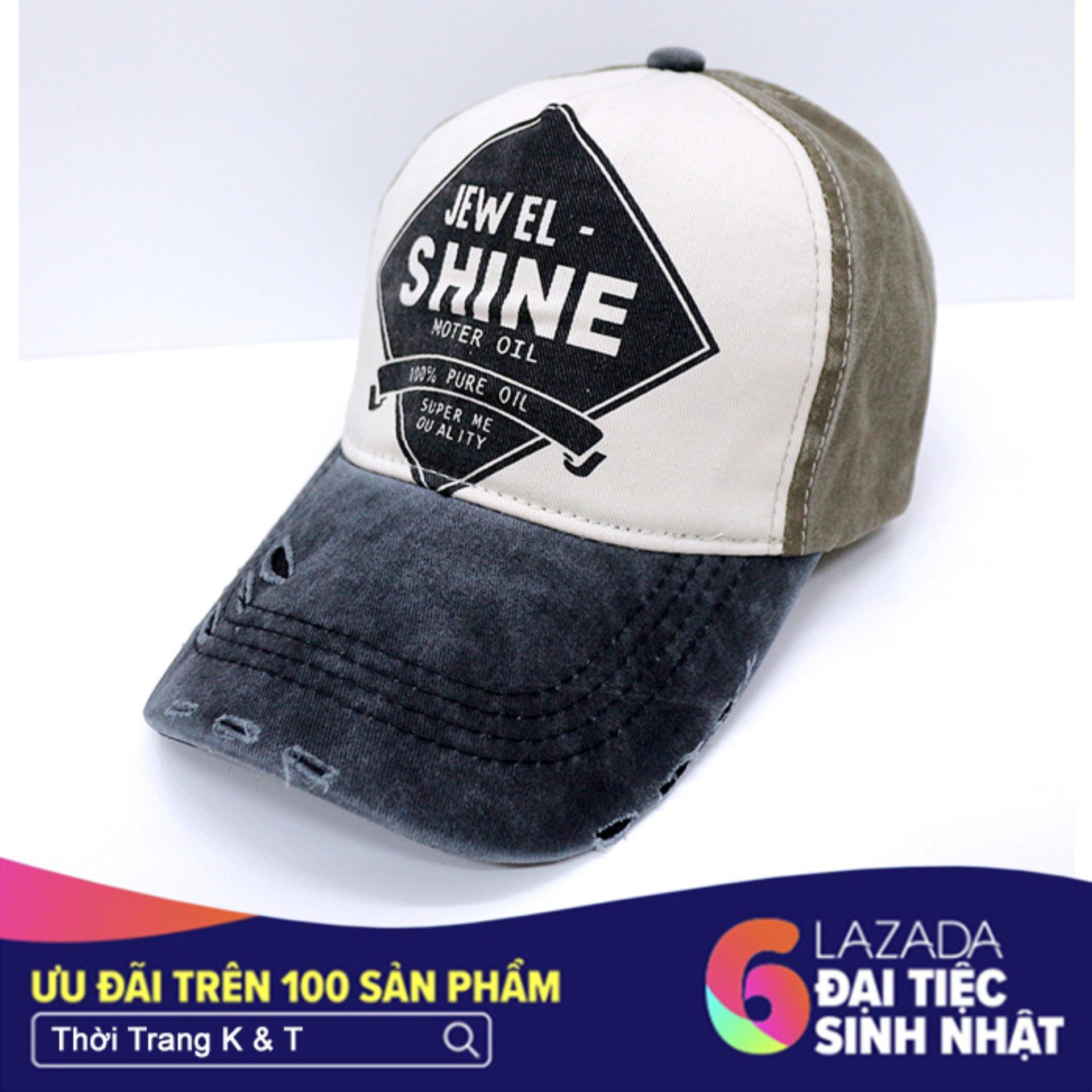 Hình ảnh Nón Thể Thao Shine design Thời Trang K & T (Xám)