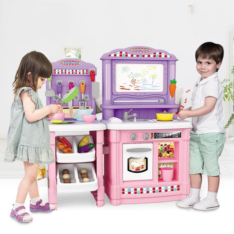 Hình ảnh Bộ đồ chơi nhà bếp, đồ chơi nấu bếp cao cấp cho bé 70 chi tiết có tiếng kêu mô phỏng, kích thước lớn