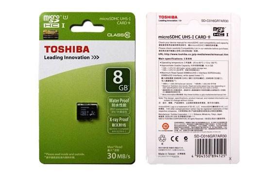 Kết quả hình ảnh cho Thẻ Nhớ SD 8G TOSHIBA NHỎ