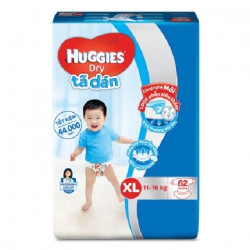 Bán Ta Dan Huggies Xl62 Cho Be 11 16Kg Huggies Có Thương Hiệu
