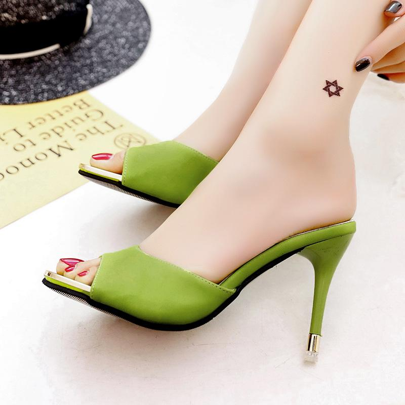 f6a630b531 Korean peep-toe kitten-heel platform ladies shoes yi zi tuo